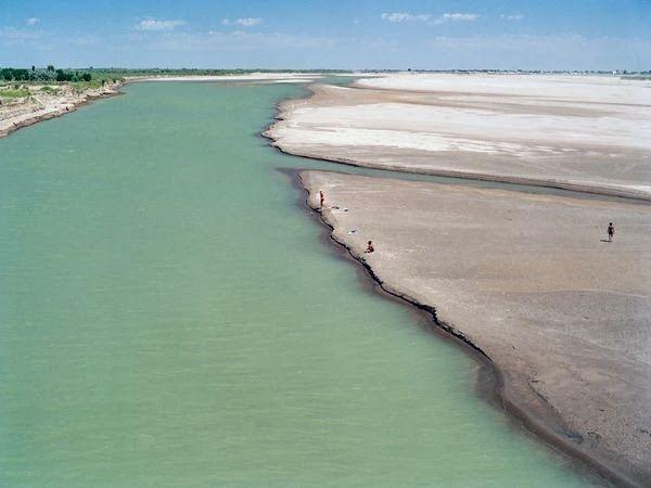 Asian river ami darya