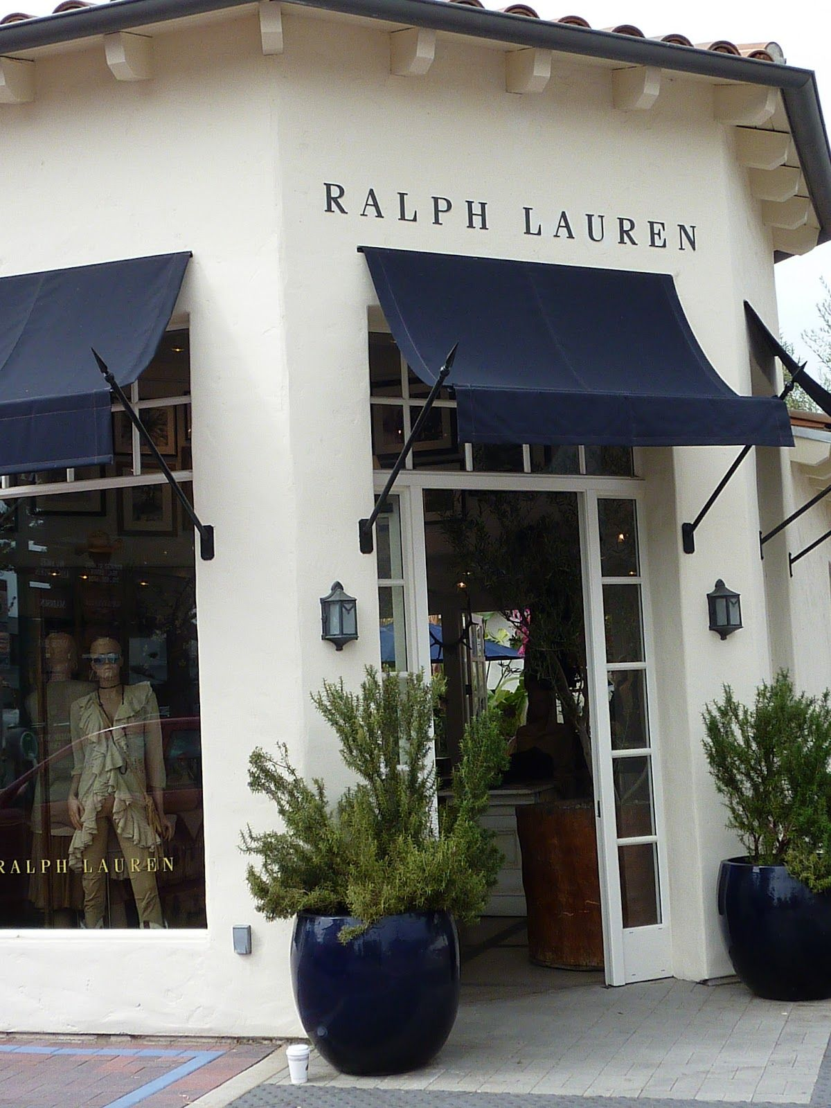 Navy And White Oh Mr Lauren Storefronts Shop Awning