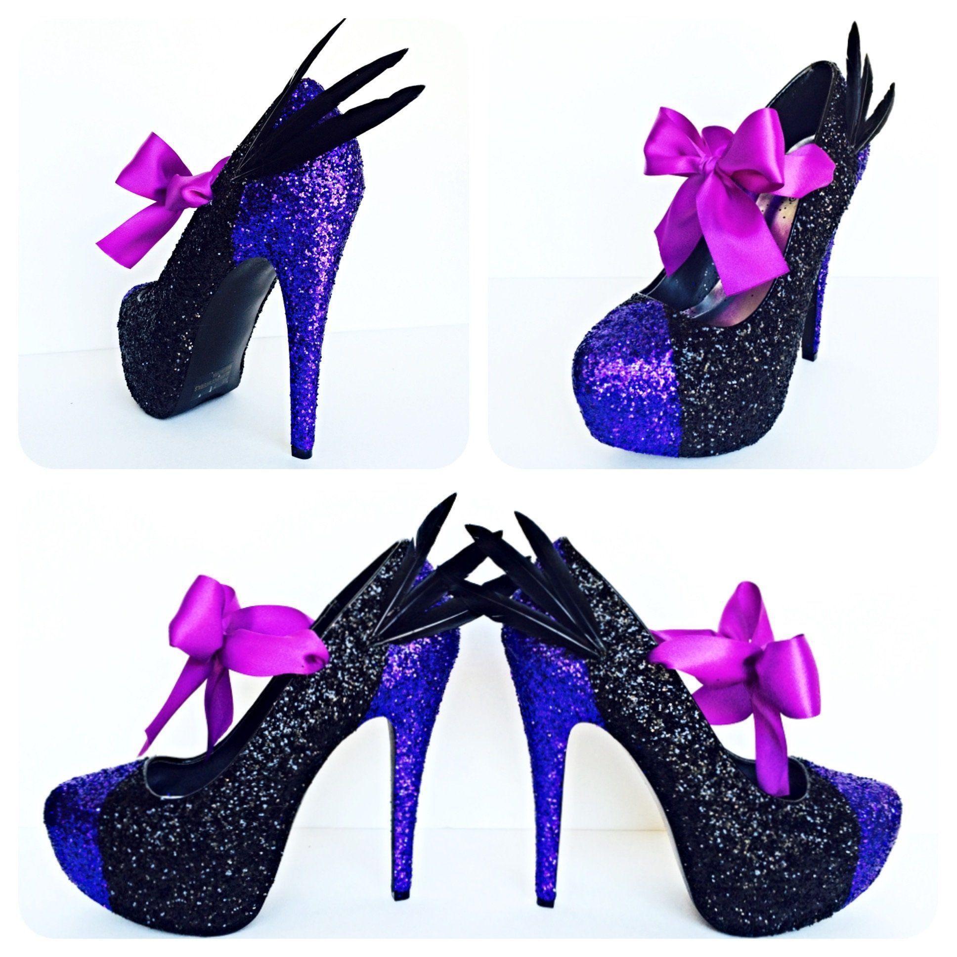 6033ab08e81 Maleficent Glitter Wedding High Heels