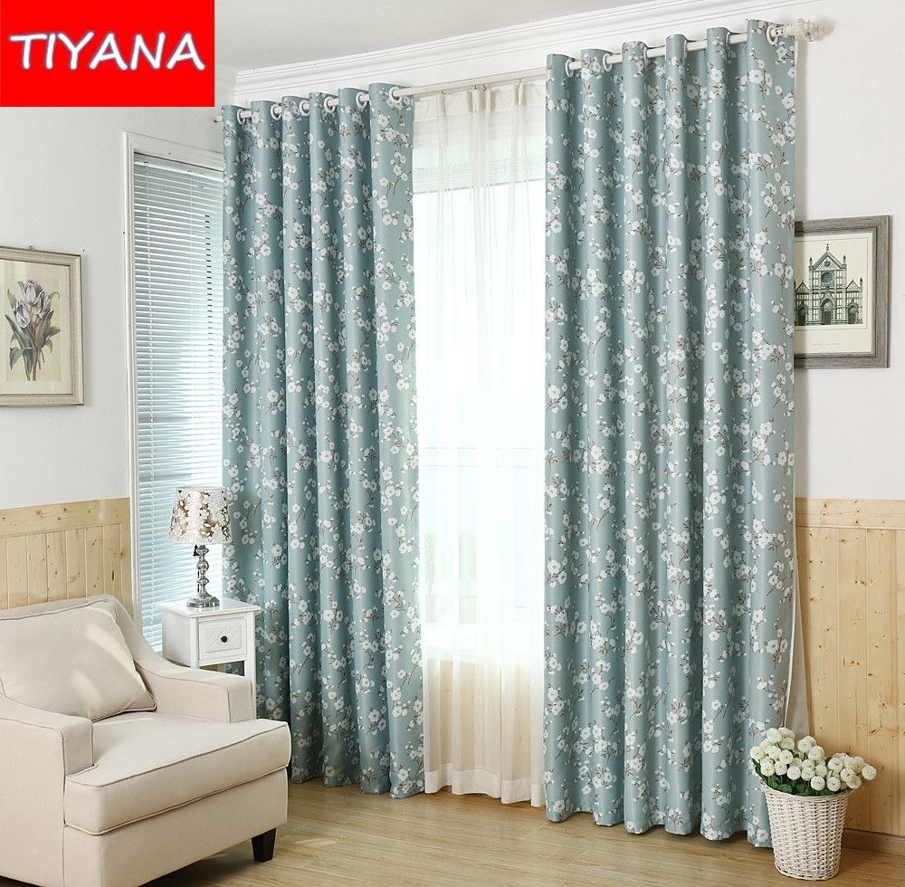 Flower chinese luxury living room window curtains tulle sheer