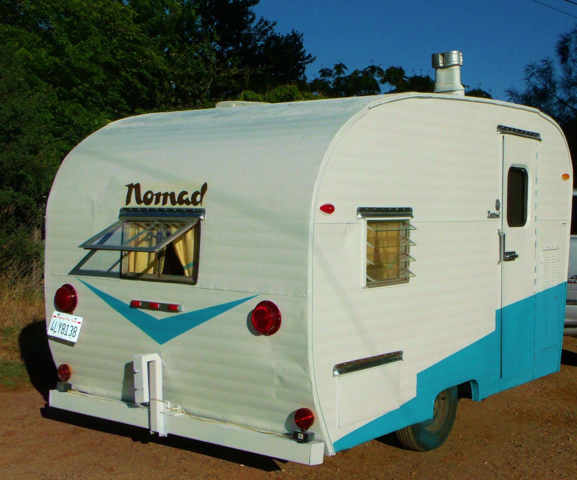 our 1958 nomad vintage travel trailers we have restored vintage trailers vintage camper. Black Bedroom Furniture Sets. Home Design Ideas