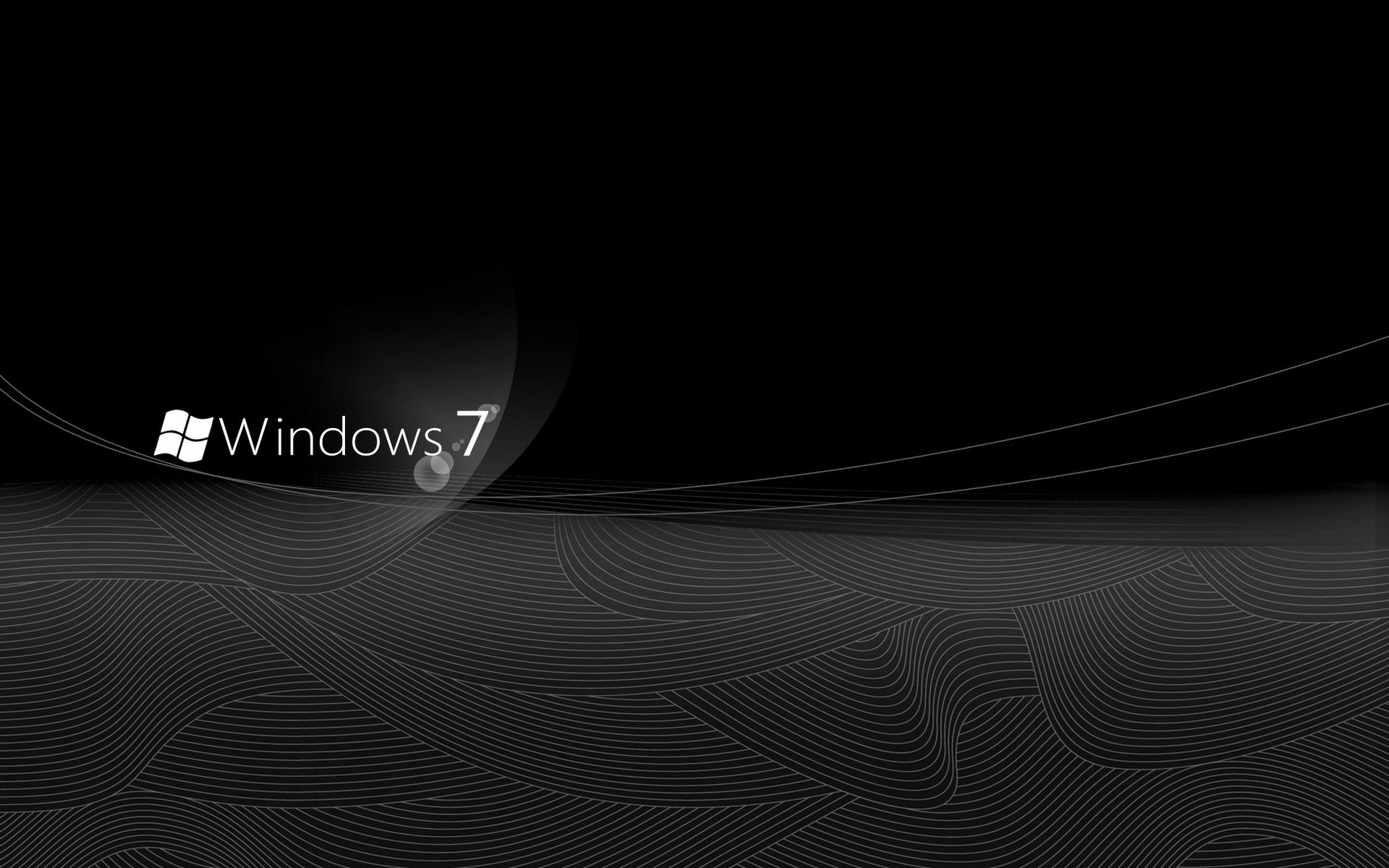 Black Windows 7 Wallpapers Hd Wallpaper Fonte Jardim