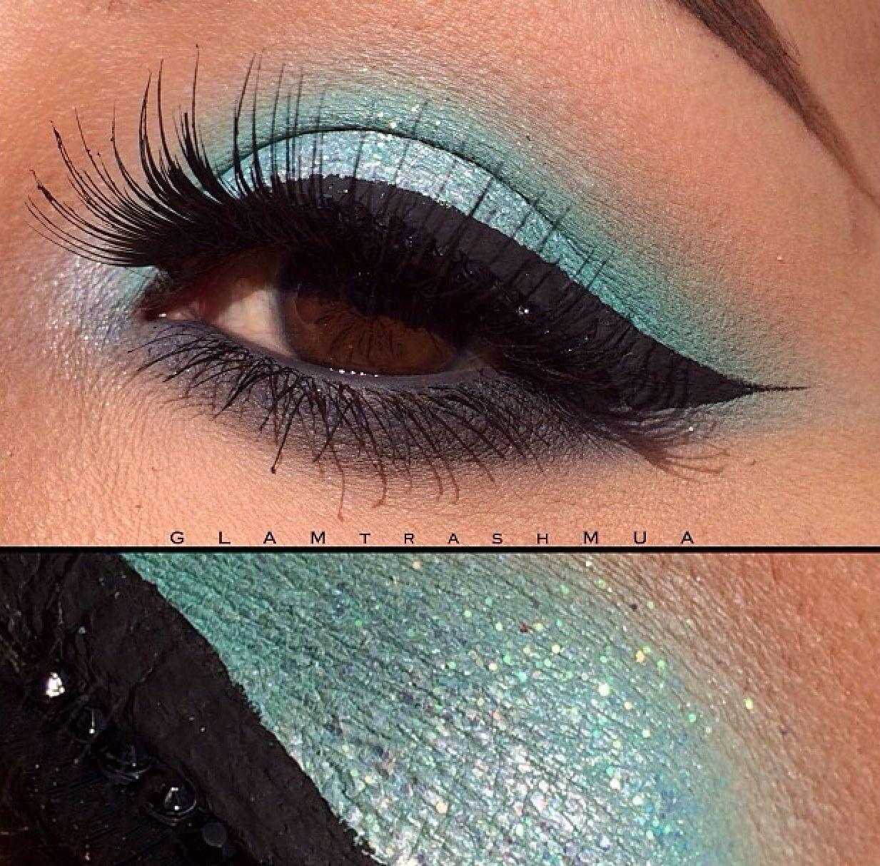 Mint Green Teal Eyeshadow Grey Eyeshadow Teal Makeup