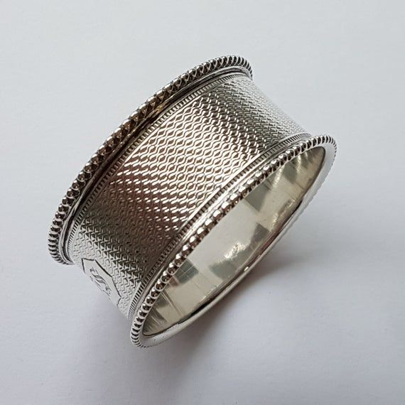 Antique Solid Silver Napkin Ring Victorian London 1873 (Maker WH) #napkinrings
