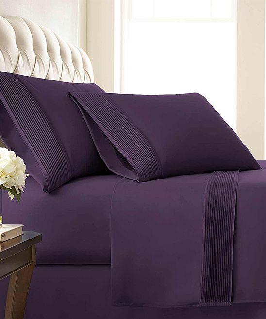 8011b934faf5 Purple Vilano Springs® Deep-Pocket Pleated Sheet Set | Products ...