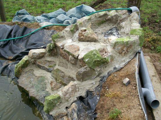 Fabriquer une cascade de bassin recherche google fontaine pinterest s - Fabriquer une cascade pour bassin ...