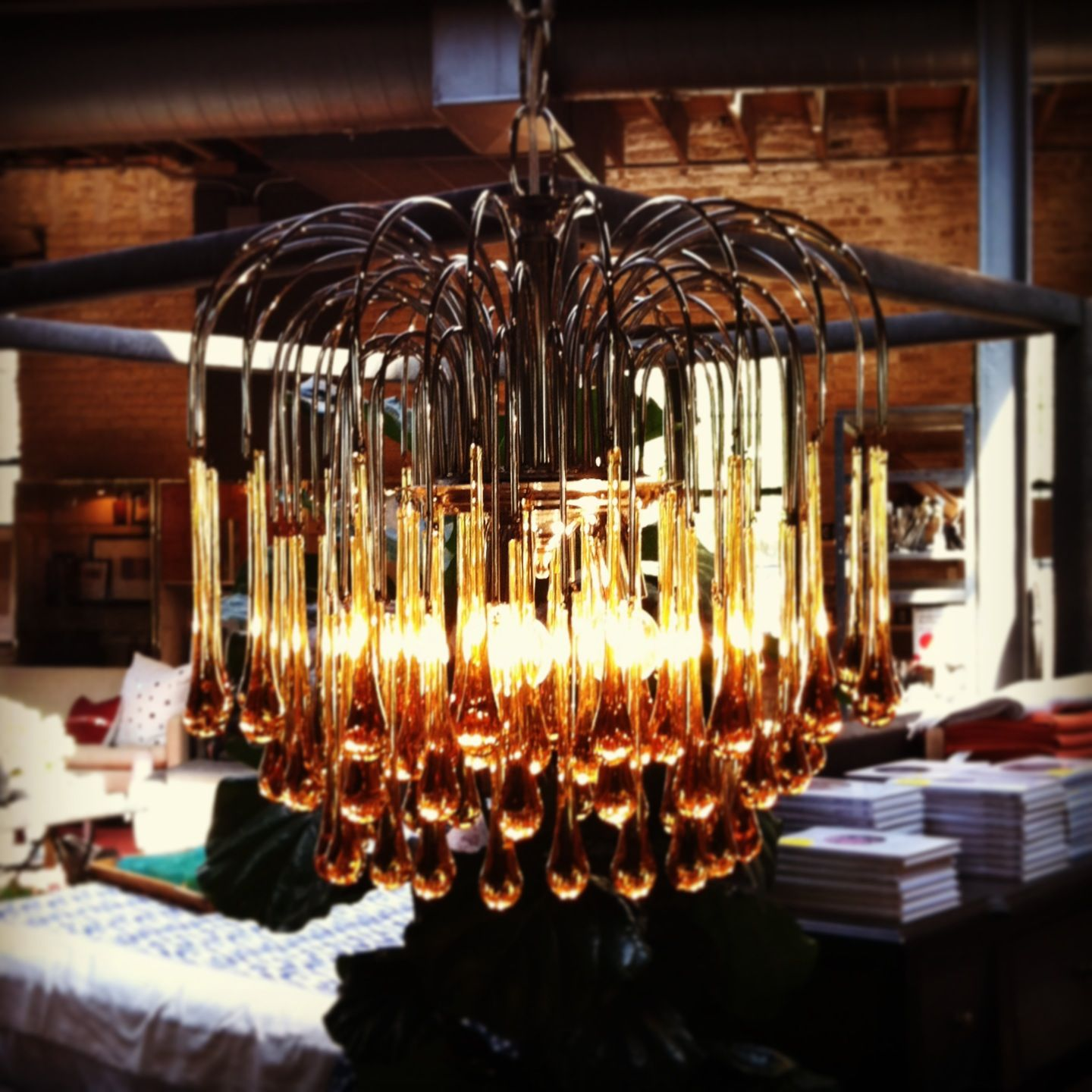 Vintage Glass Drop Chandelier Oh yes