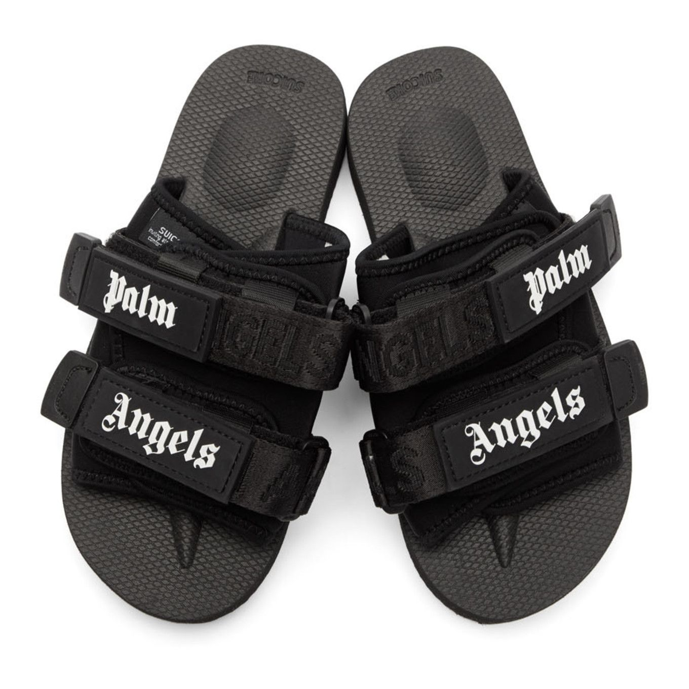 Palm Angels - Black Suicoke Edition Nylon Slides  562df229a