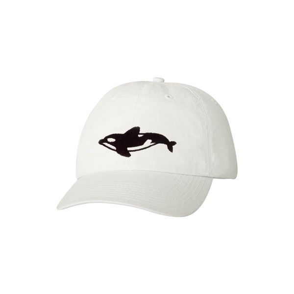 Orca Cap (€30) ❤ liked on Polyvore featuring accessories, hats, white cap, white hat, caps hats and orca