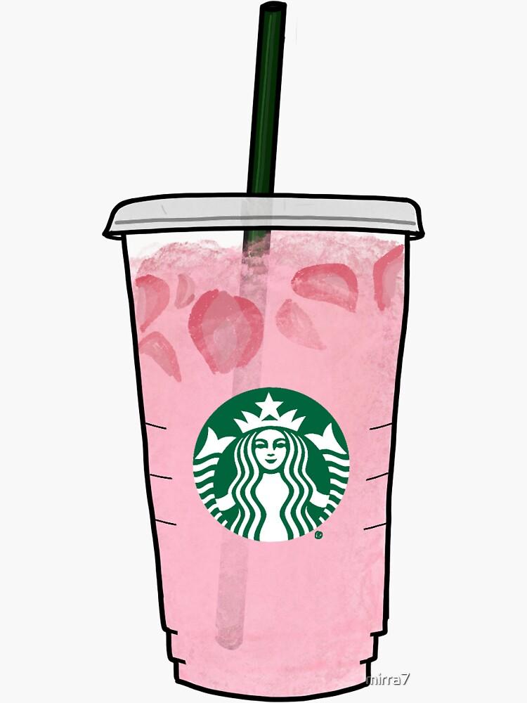 Pink Drink Sticker By Mirra7 In 2021 Starbucks Wallpaper Starbucks Art Drink Stickers