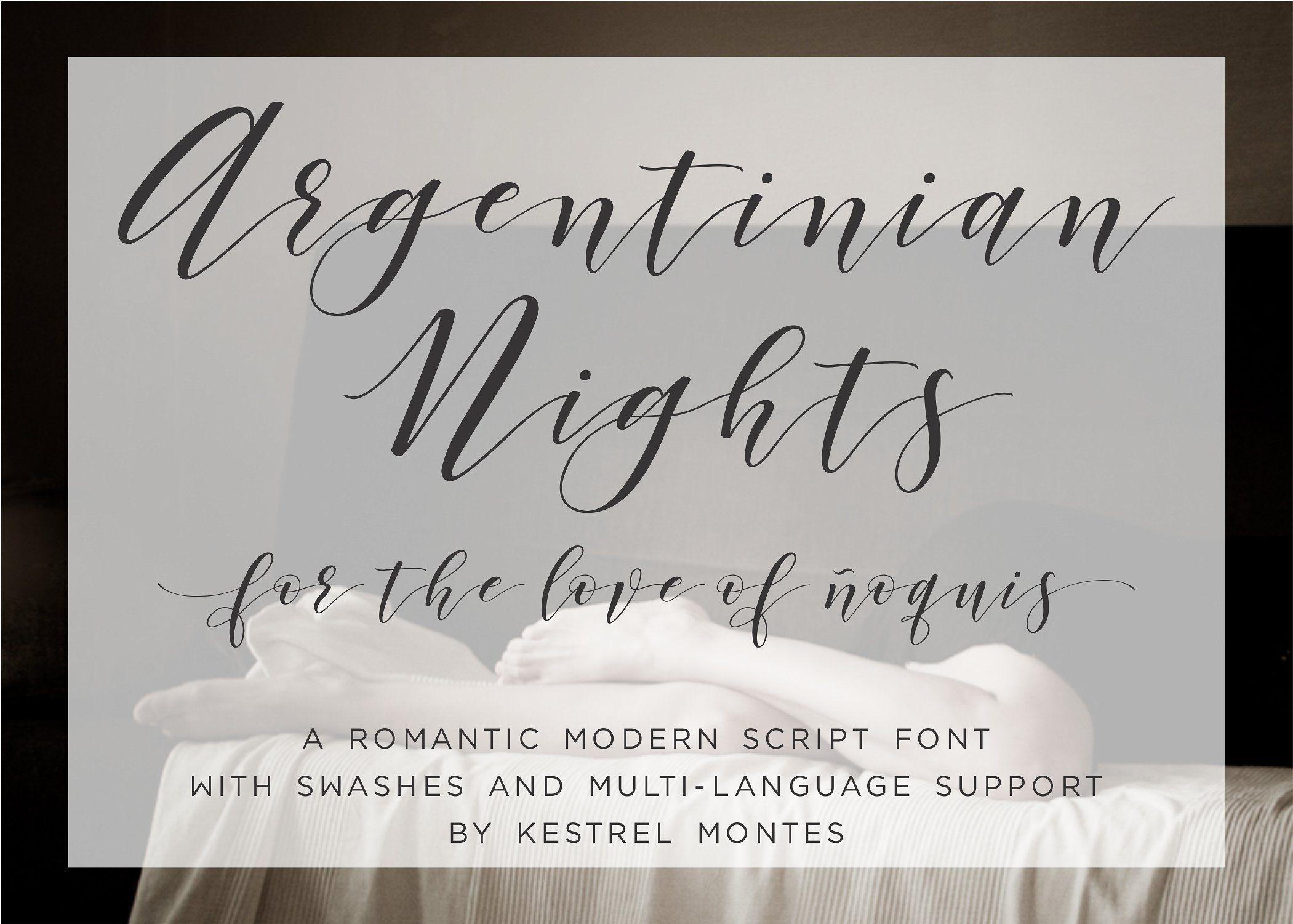 Argentinian Nights Elegant Font