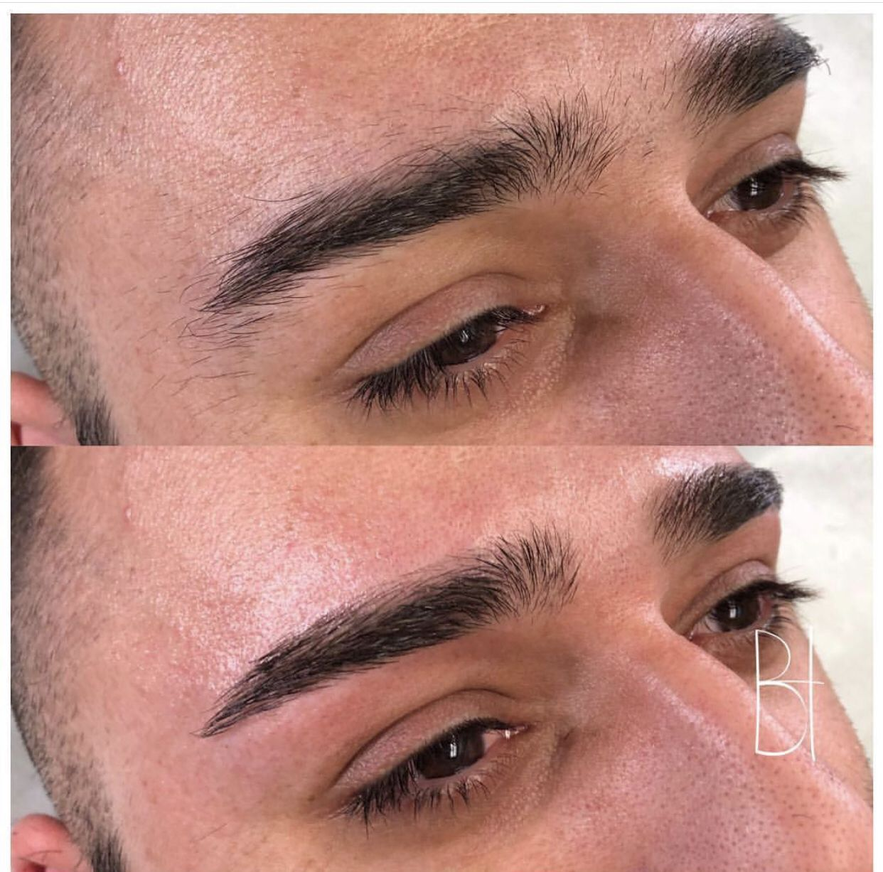Done men getting eyebrows What Is
