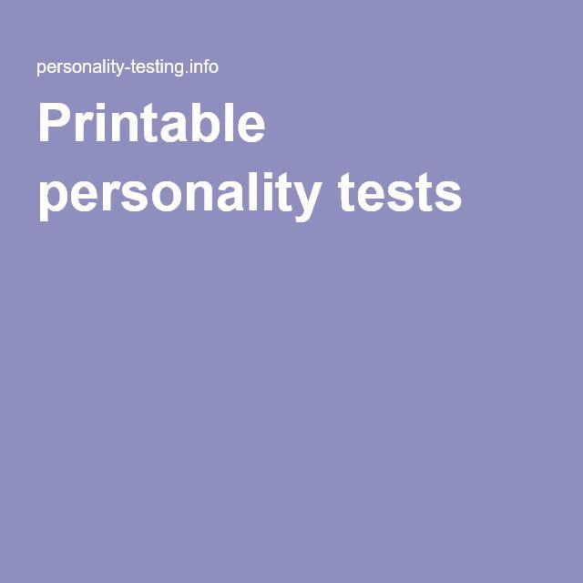 photo regarding Printable Personality Tests referred to as Pin upon Psychology enjoyment