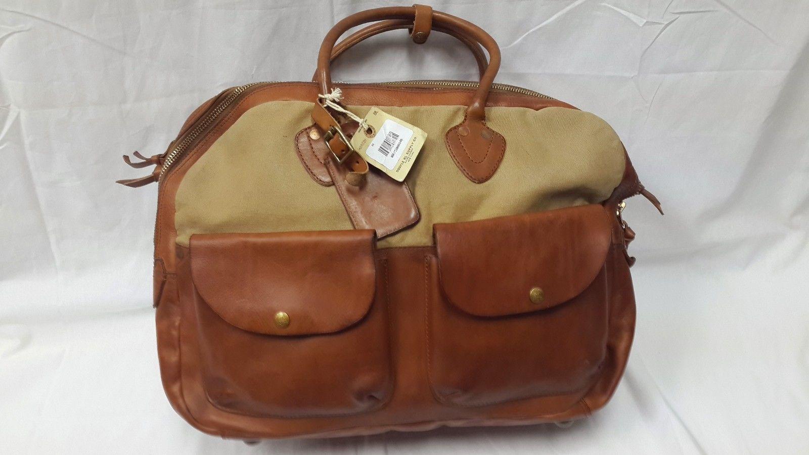 650ecc89ed Ralph Lauren RRL Double RL Leather and Canvas Cargo Bag