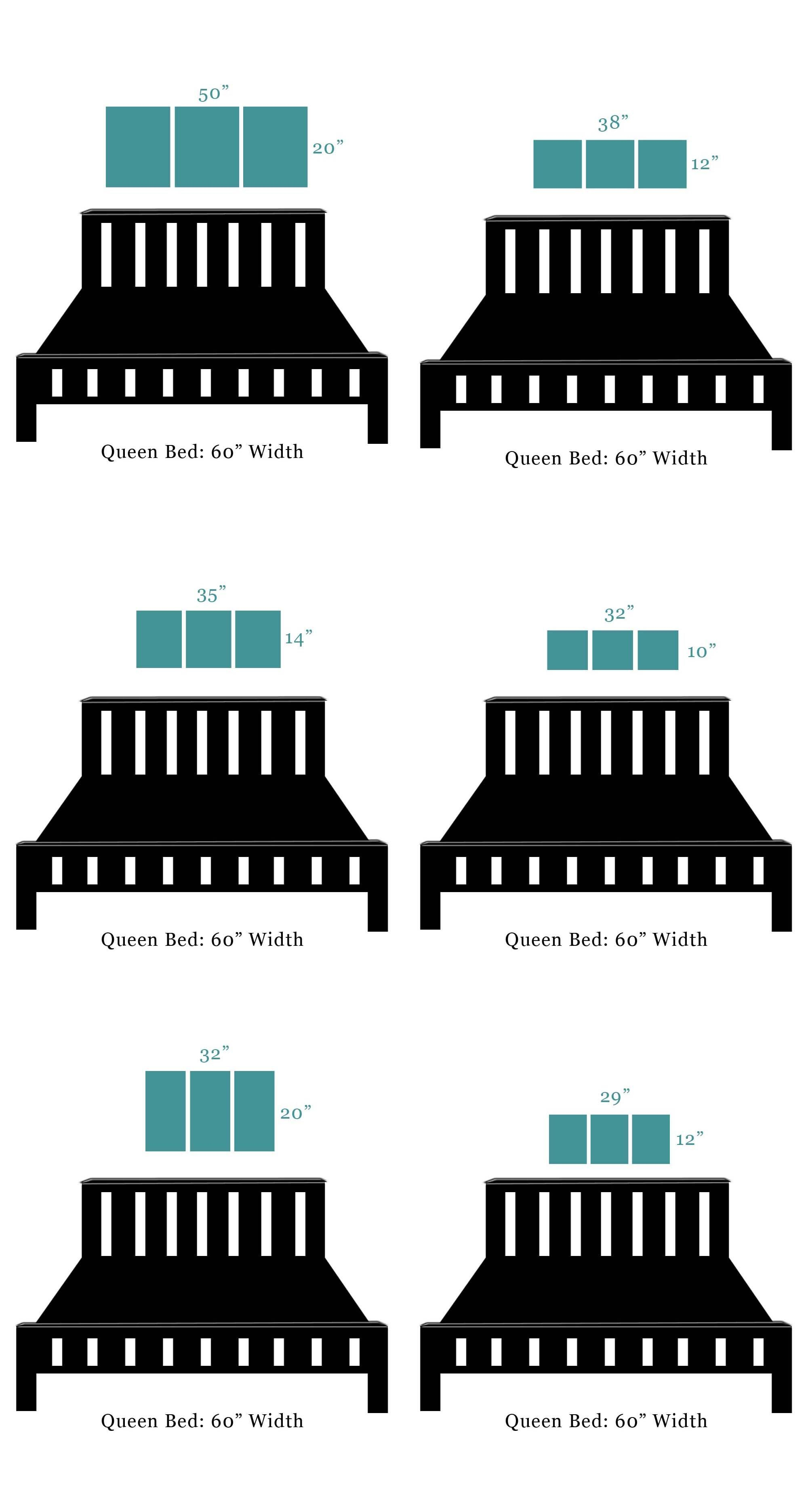 Painting sizes that fit over a queen size bed blue - Over the bed art ...