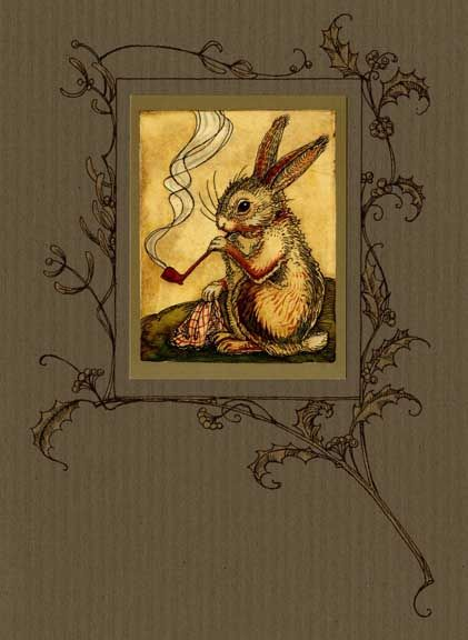Mr Rabbit S Christmas Wish Charles Van Sandwyk Bunny Art Rabbit Art Art