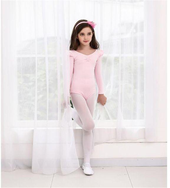 Nuevos niños Niñas manga larga Ballet tutú Gimnasia danza traje ropa ...