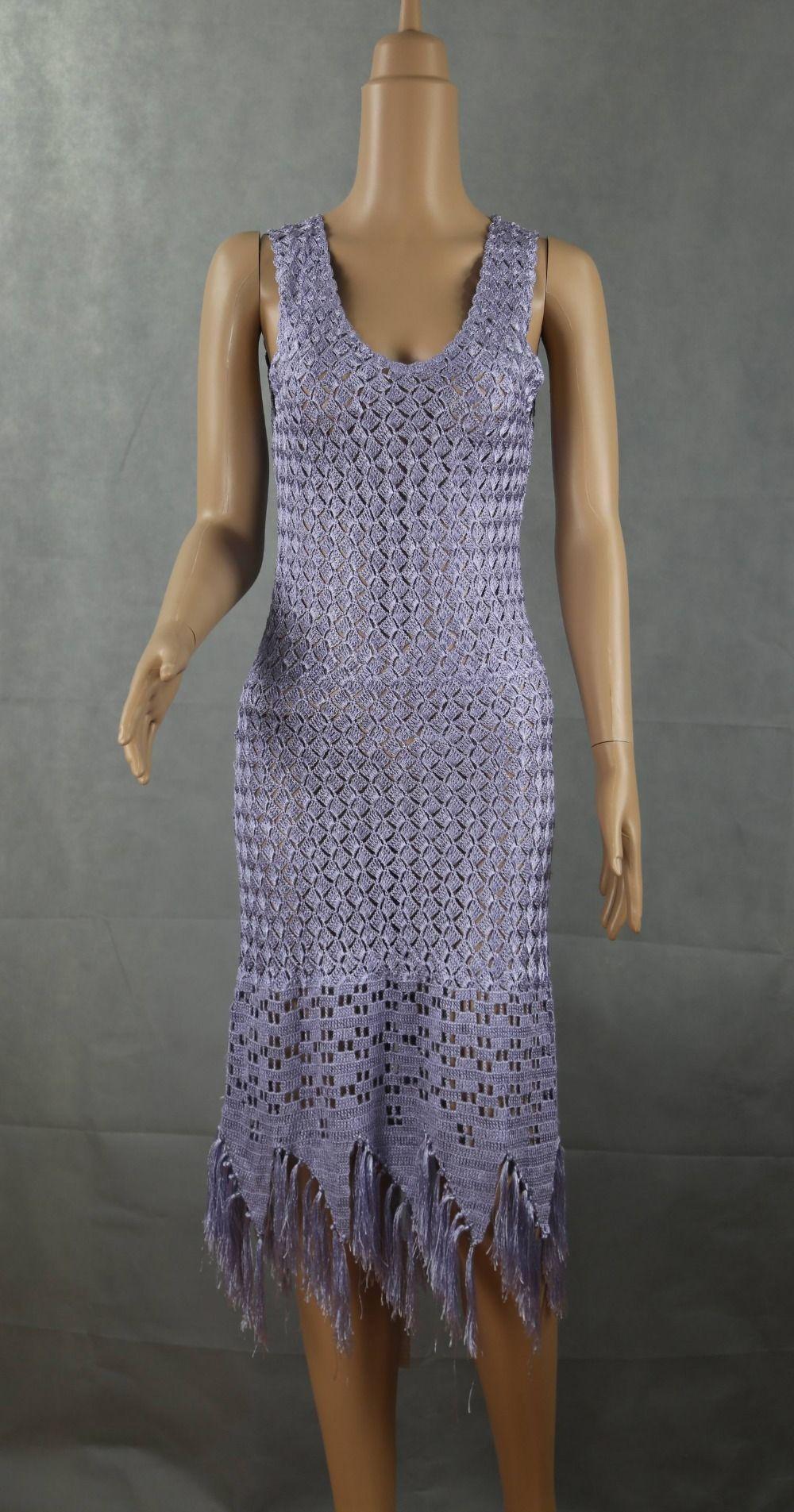 Machine Crochet Cotton Ladies Long Lace Evening Dress - Buy Long ...