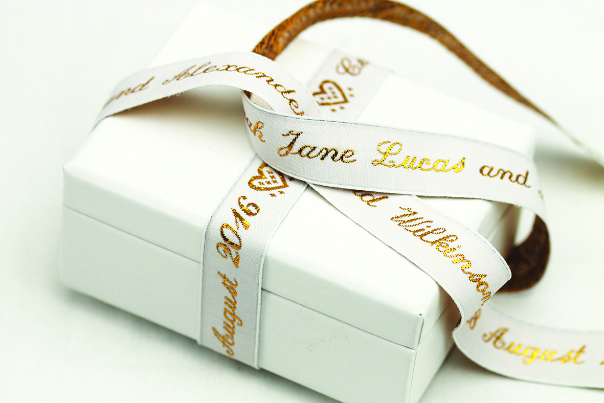 Create a personalised message with our Text Ribbon | Woven labels ...