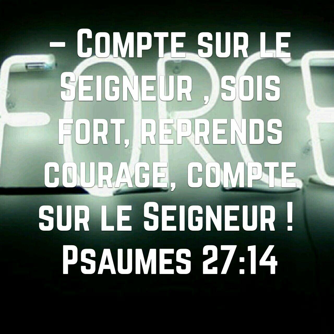 Psaumes 27v14 Psaume 27 Psaumes Citations Bibliques