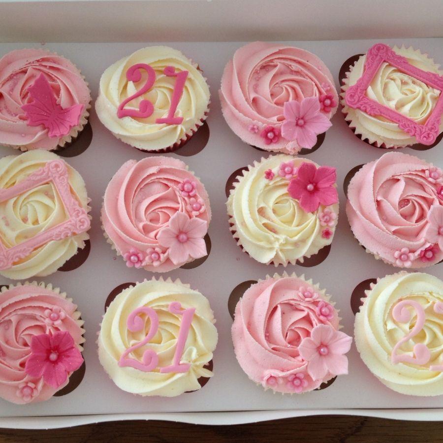 Girly St Birthday Cupcakes Birthday Cakes Pinterest St - Latest 21st birthday cakes