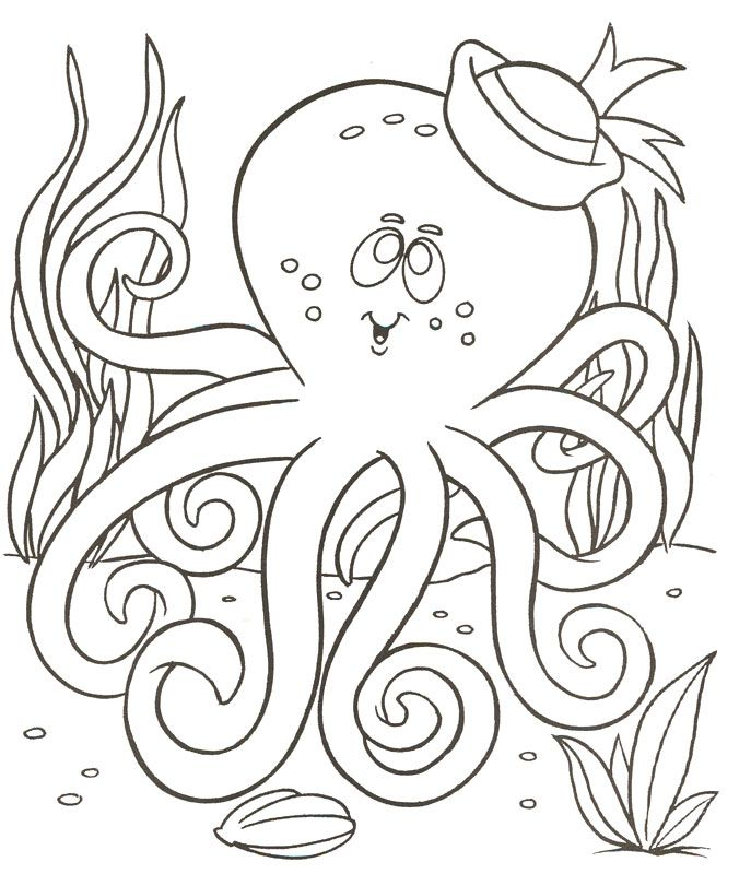 Free Printable Octopus Coloring Pages For Kids Classroom