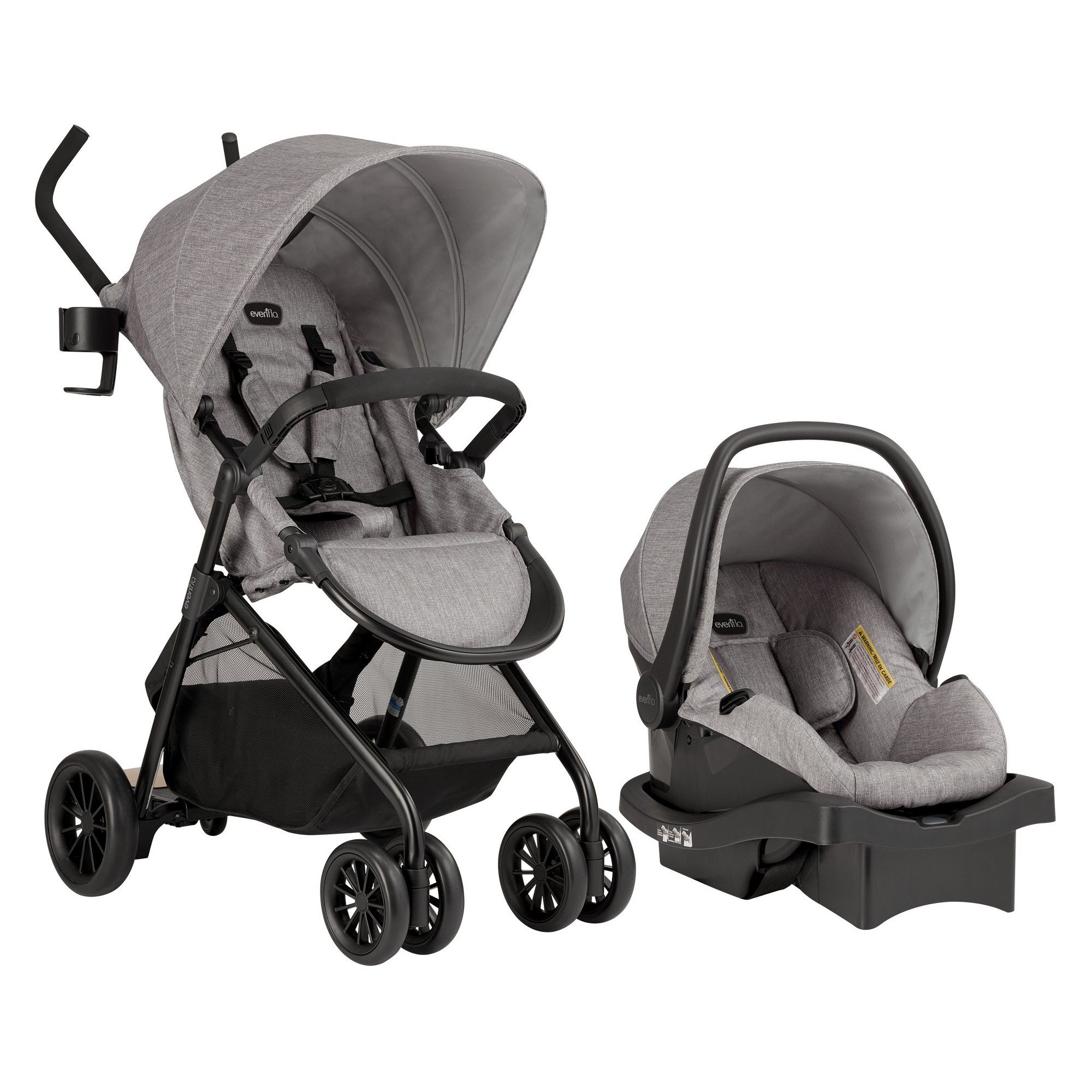Evenflo Sibby Travel System Mineral Gray Travel system