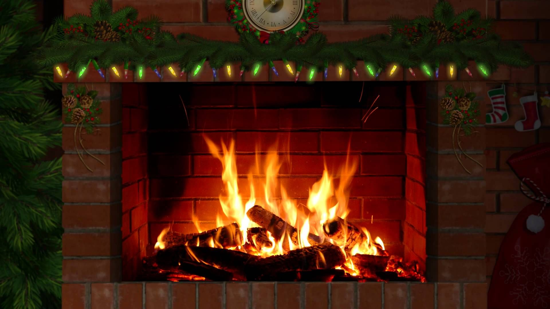 Fireplace With Christmas Music.Fireplace With Christmas Music 3 Hours Fireplace