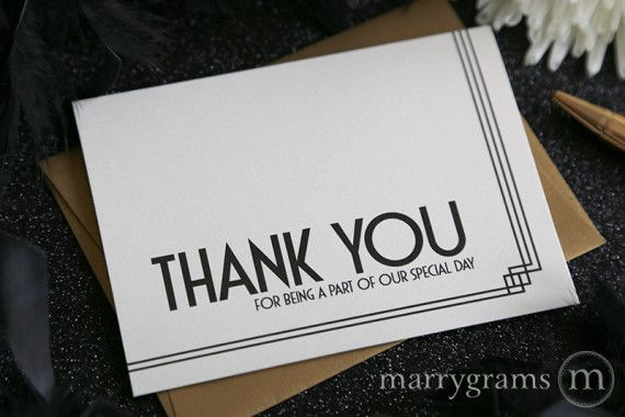 our special day vendor thank you card deco style  wedding