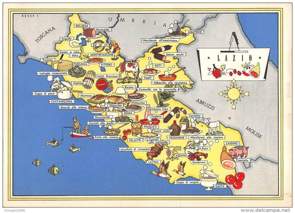 Lazio gastronomico illustrations and posters italia for Roma prodotti tipici