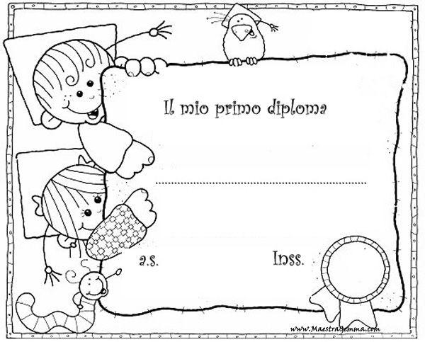 Diplomi Scuola Infanzia Bianco E Nero Certificados School