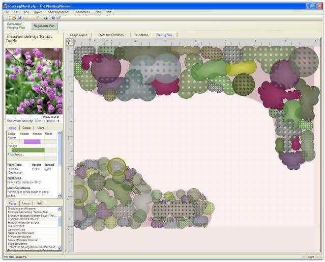 garden design software for creating tailor made planting plans final garden plan screen