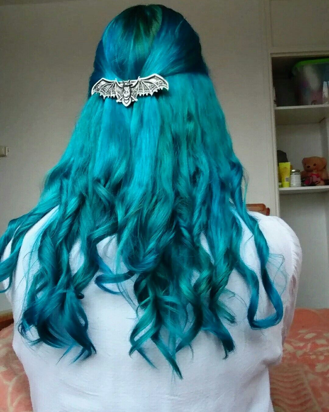 Manic Panic Voodoo Blue Mixed With Bad Boy Blue And Atomic Turqoise Long Hair Styles Bad Boys Blue Hair Styles