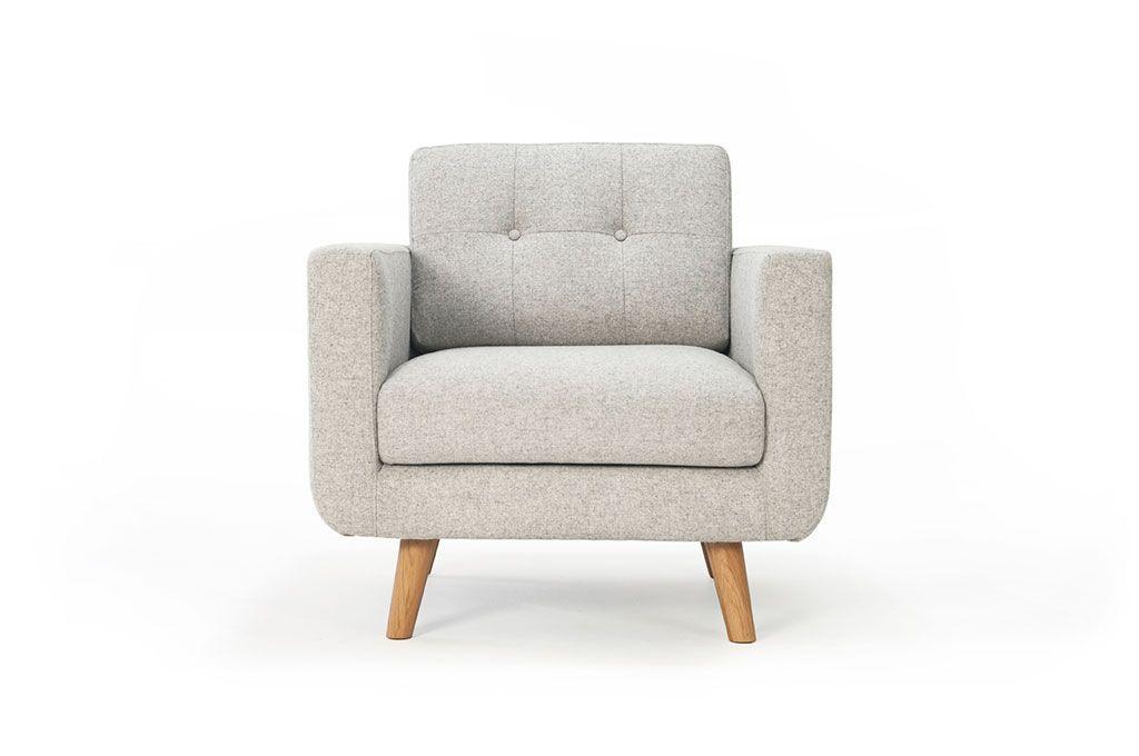 Conrad, chair, Andie Stone, Oak Legs sofacompany