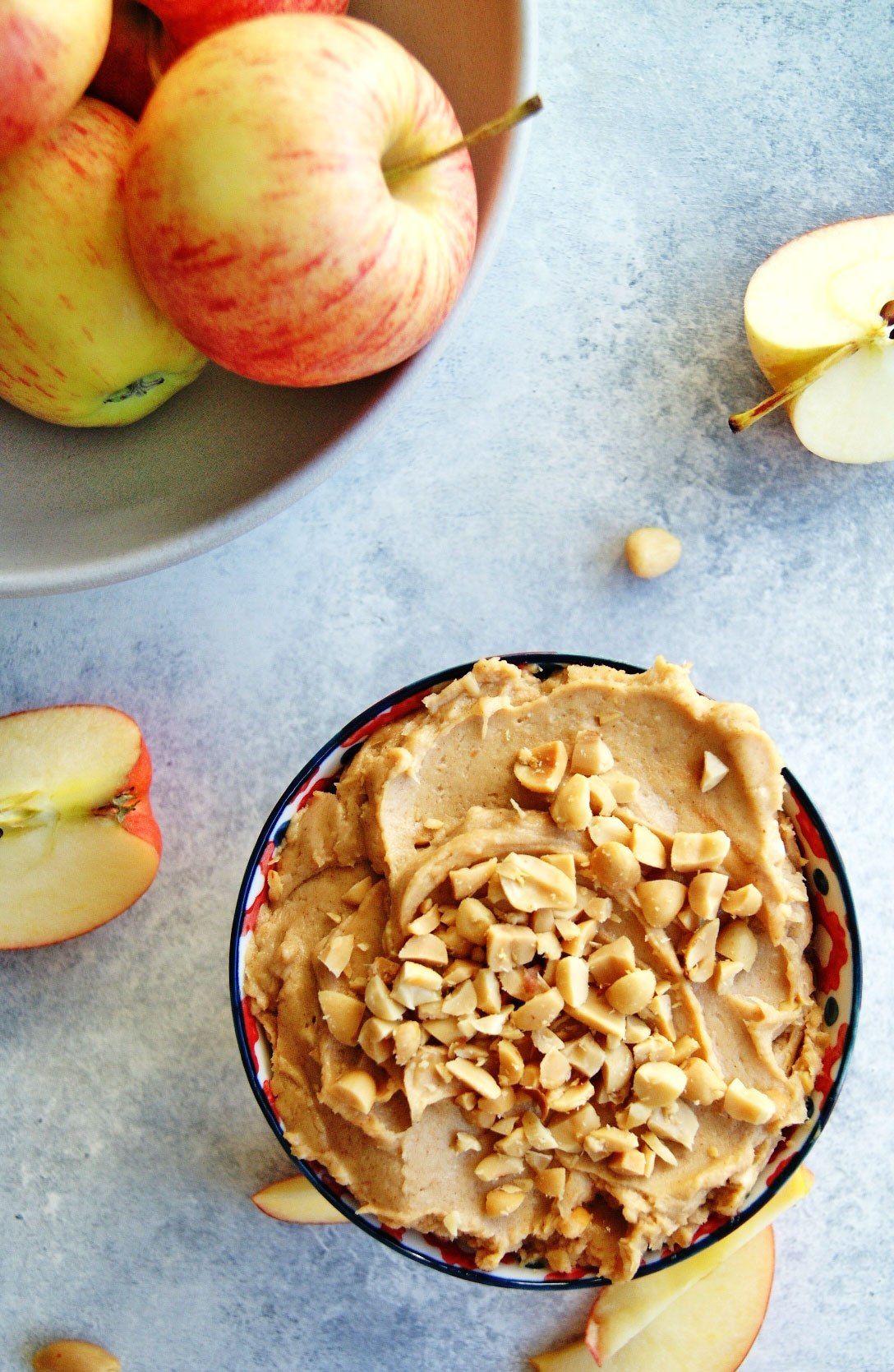 Creamy Peanut Butter Apple Dip 4 Ingredients Apple dip