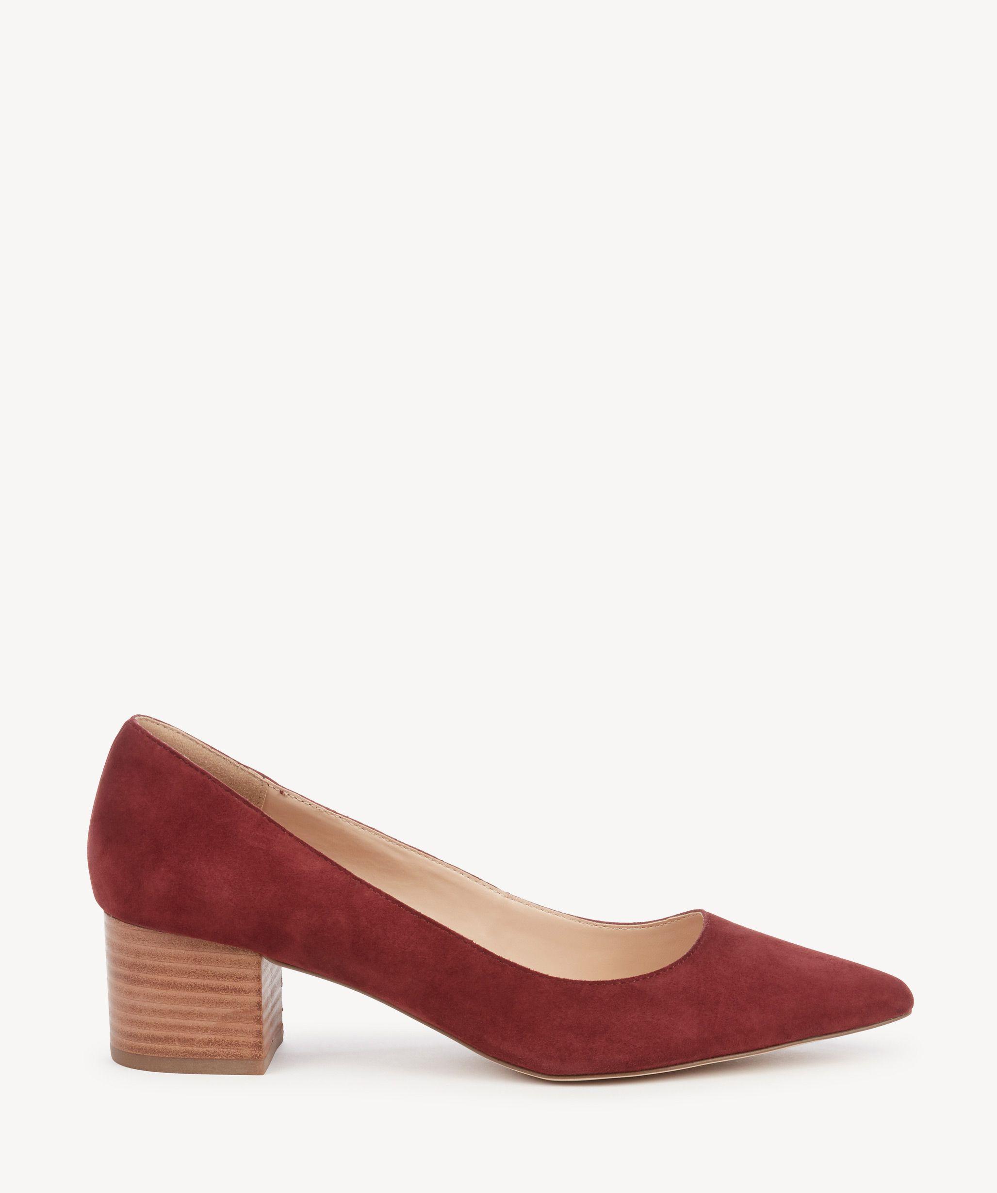 1f9c8a09843 Sole Society Andorra Block Heels Pumps Merlot