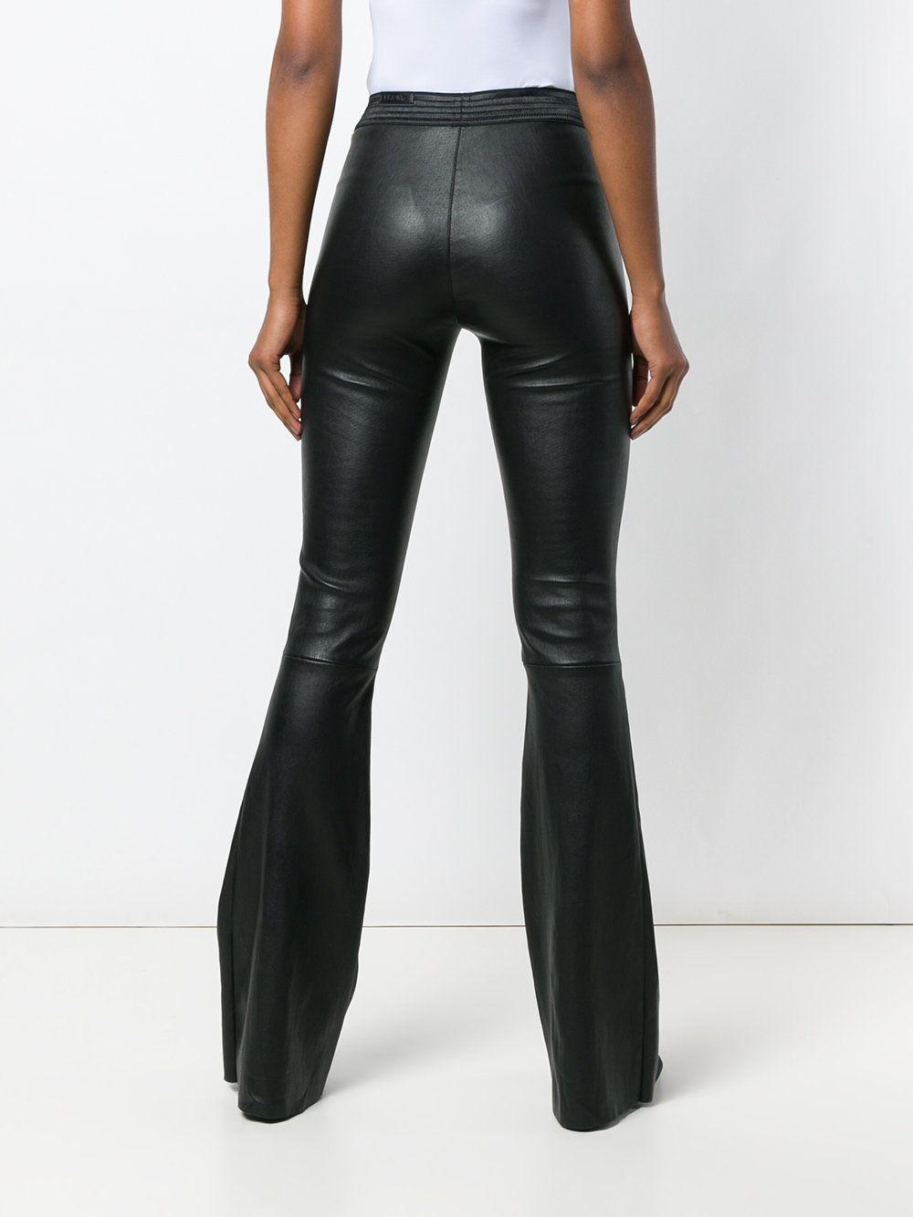 Drome leather flared trousers  1472ae44ba4