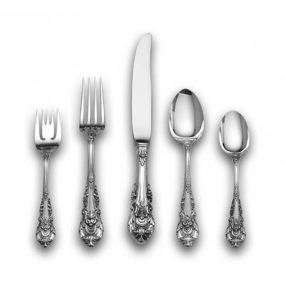 Wallace Sterling Silver Sir Christopher 5 Piece Flatware Set Service For 1 Flatware Set Sterling Silver Flatware Silver Flatware
