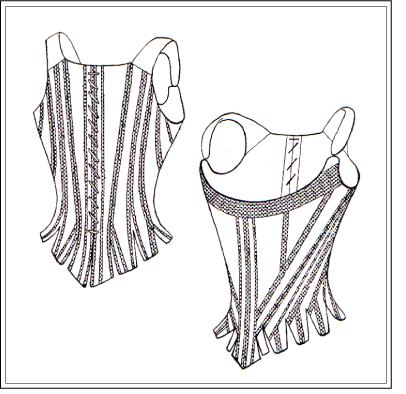 free corset pattern  half boned stay  corset pattern
