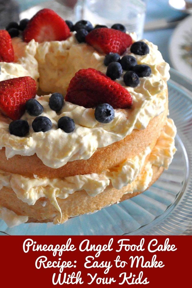 Pineapple angel food cake recipe easy to make with your desserts pineapple angel food cake recipe easy to make with your forumfinder Image collections