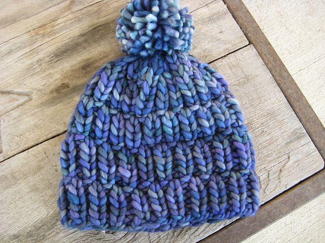 Really Warm hat by Melissa LaBarre | malabrigo Rasta in Azules ...