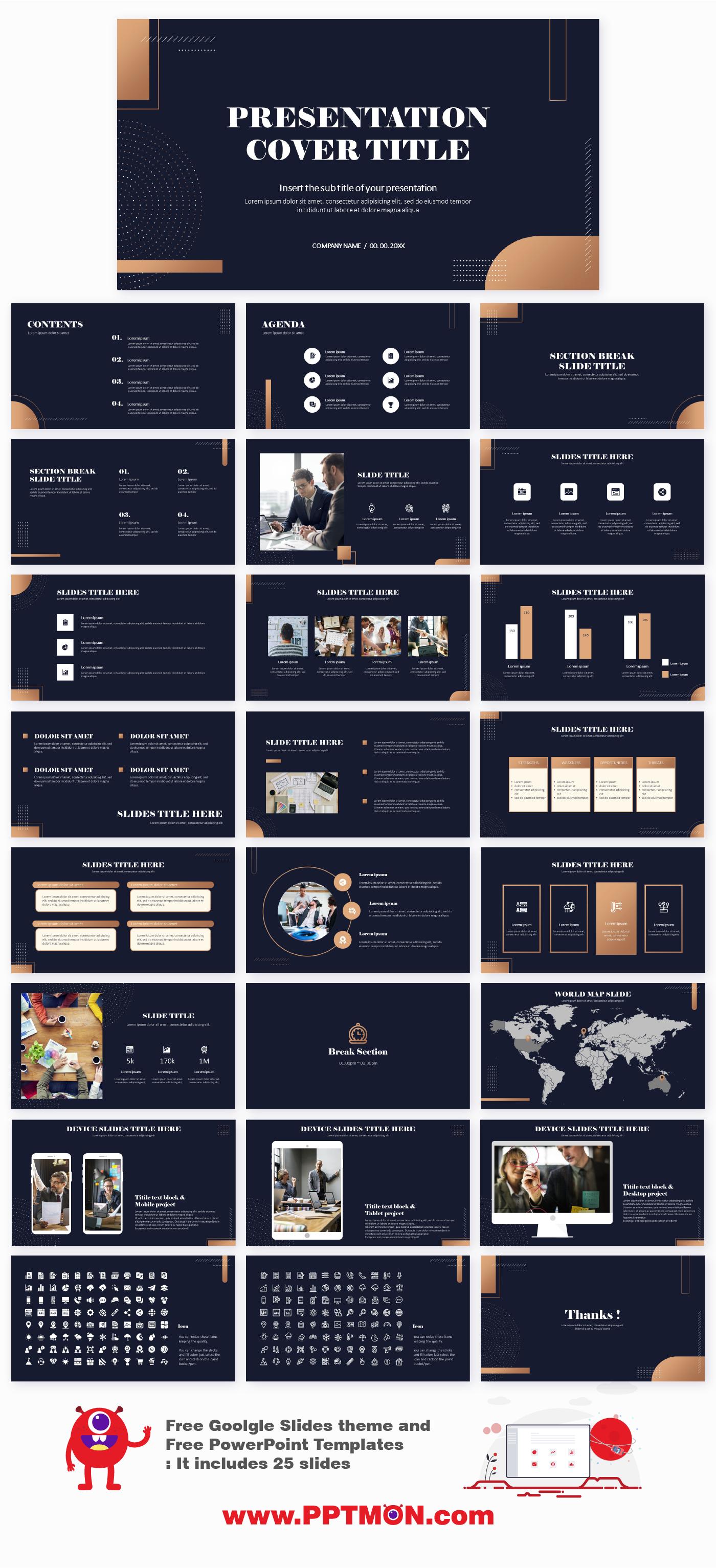 Modern Minimalist Free Presentation Templates Free Google Slides Theme And Powerp In 2020 Presentation Template Free Powerpoint Background Design Ppt Template Design