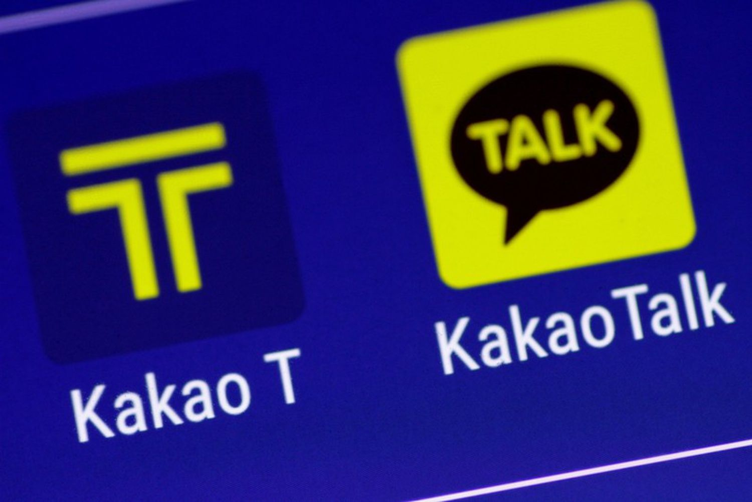 The Kakao messaging application and the Kakao T taxi