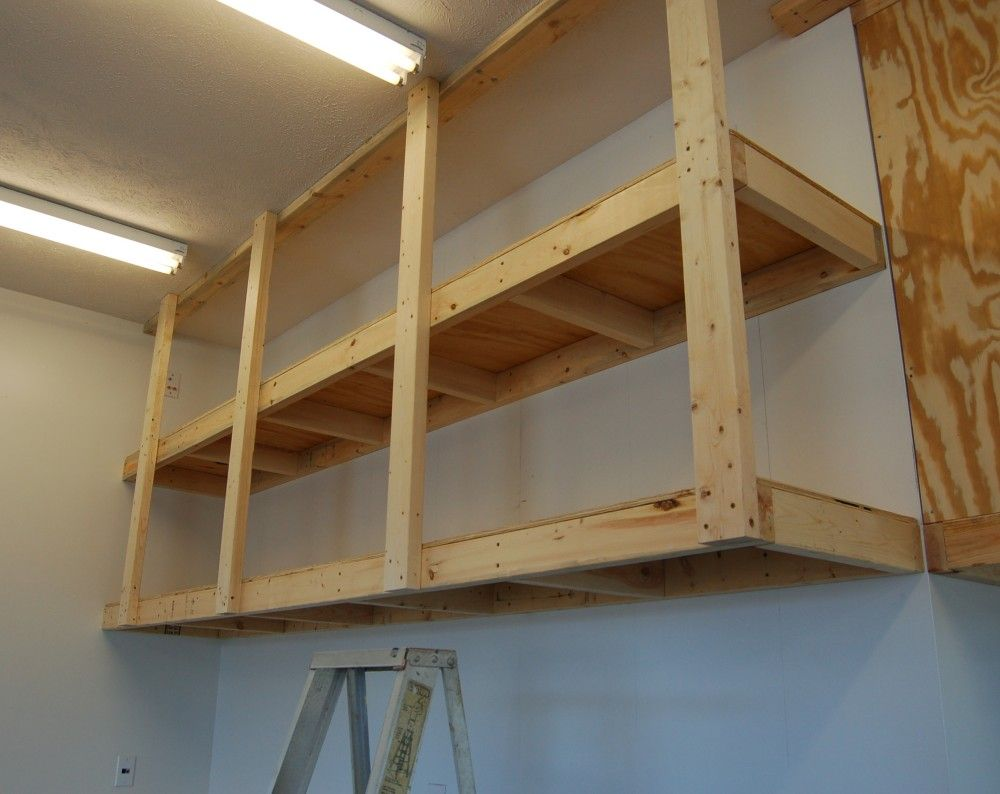 How To Build Diy Garage Shelves An In Depth Guide Storables In 2020 Diy Overhead Garage Storage Overhead Garage Storage Garage Wall Shelving
