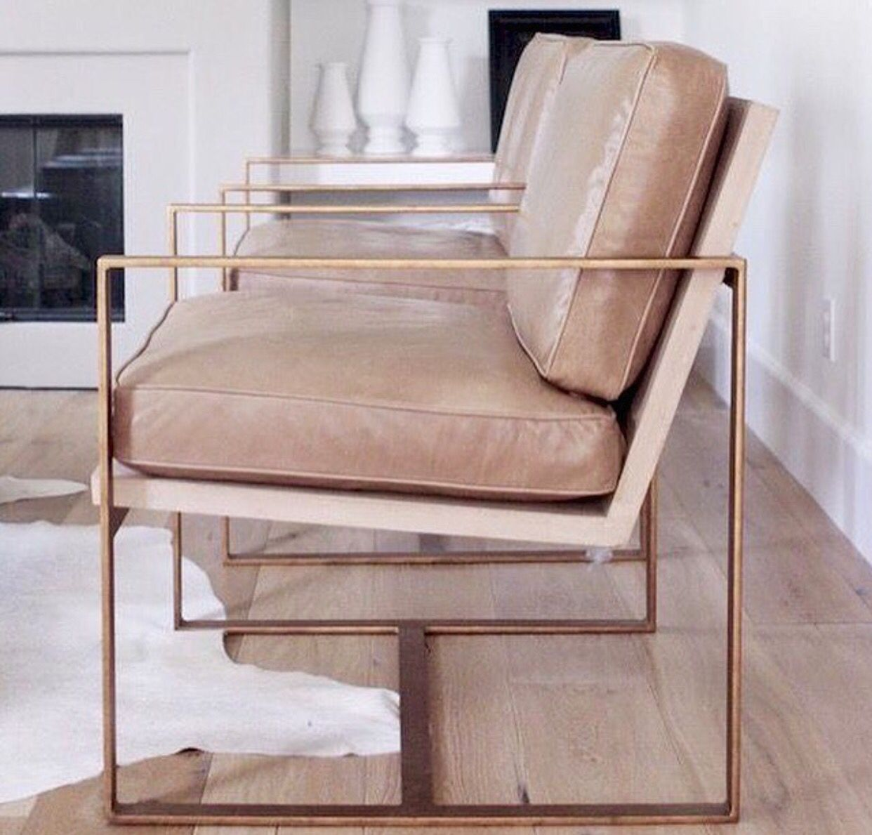 chair goals | pink leather chairs are beyond beautiful | www