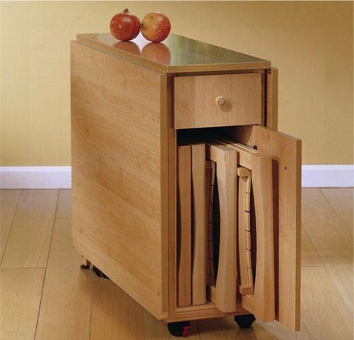 Mesas de alas mesas plegables mesas duplex muebles for Mesas y sillas de madera para cocina
