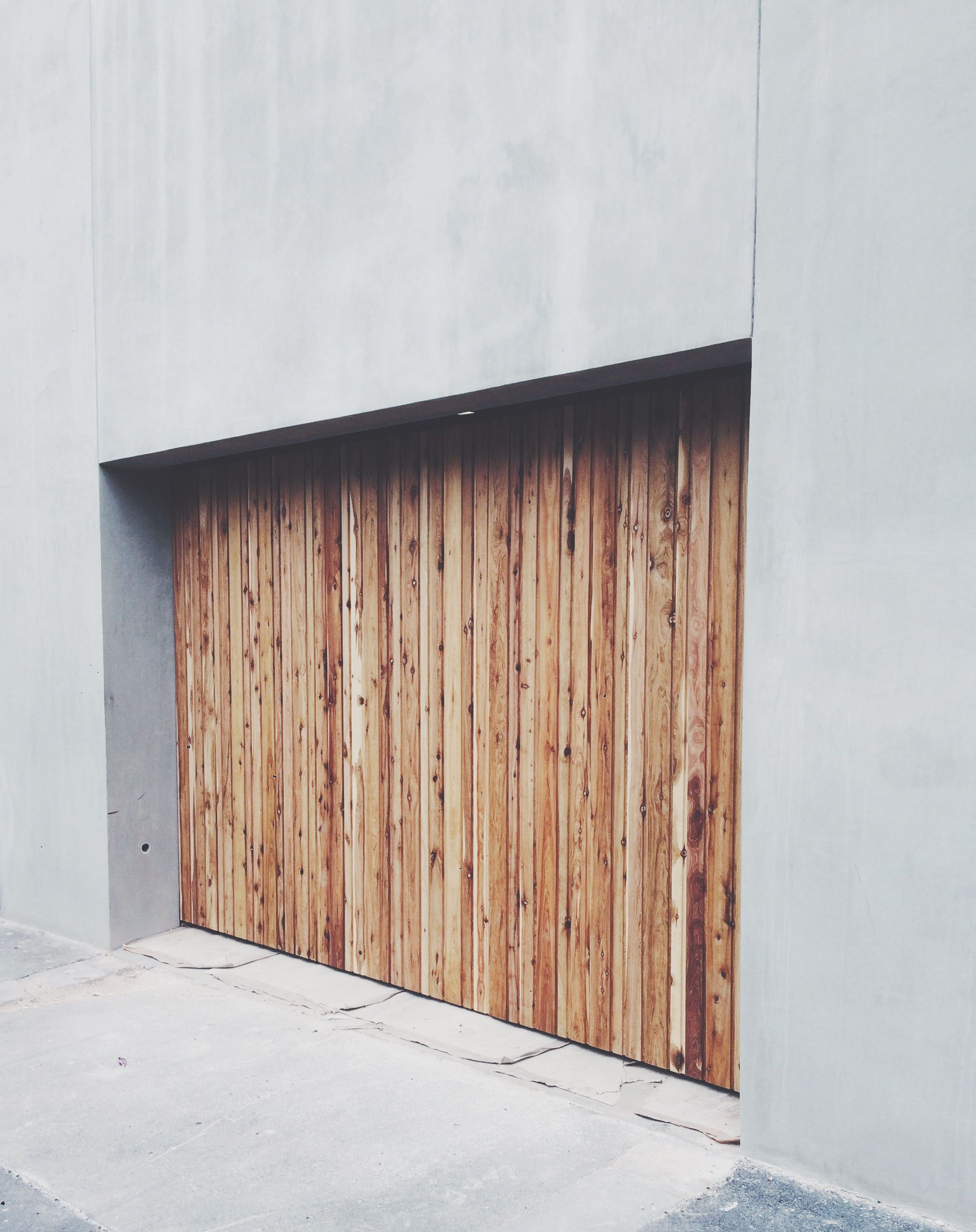 North Melbourne Garage Door Clad In Frenchams Cypress Pine