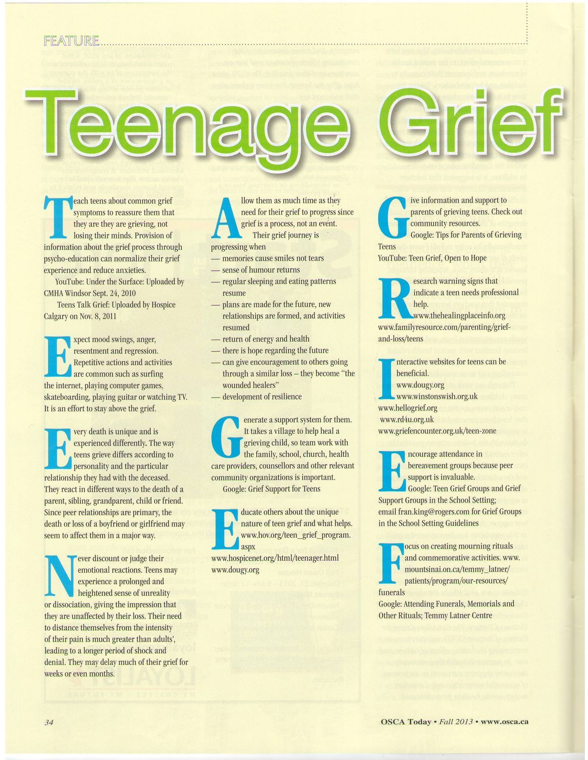 Teenage Grief