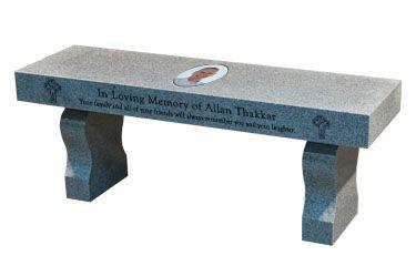 Brilliant Curved Leg Memorial Or Garden Bench Headstone Tombstone Ibusinesslaw Wood Chair Design Ideas Ibusinesslaworg
