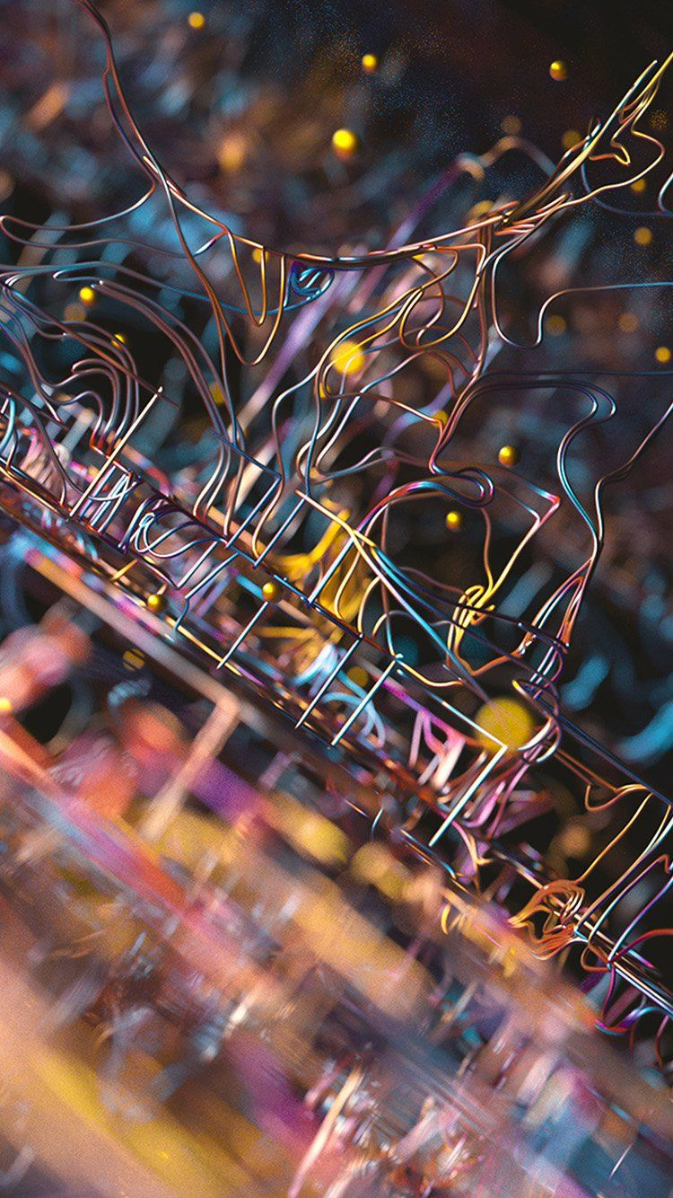 COLOR ART DOTS LINE ELECTRIC PATTERN BACKGROUND WALLPAPER